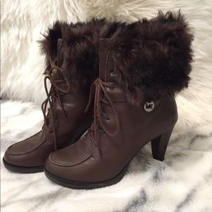 Michael Kors High Heel Leather Booties